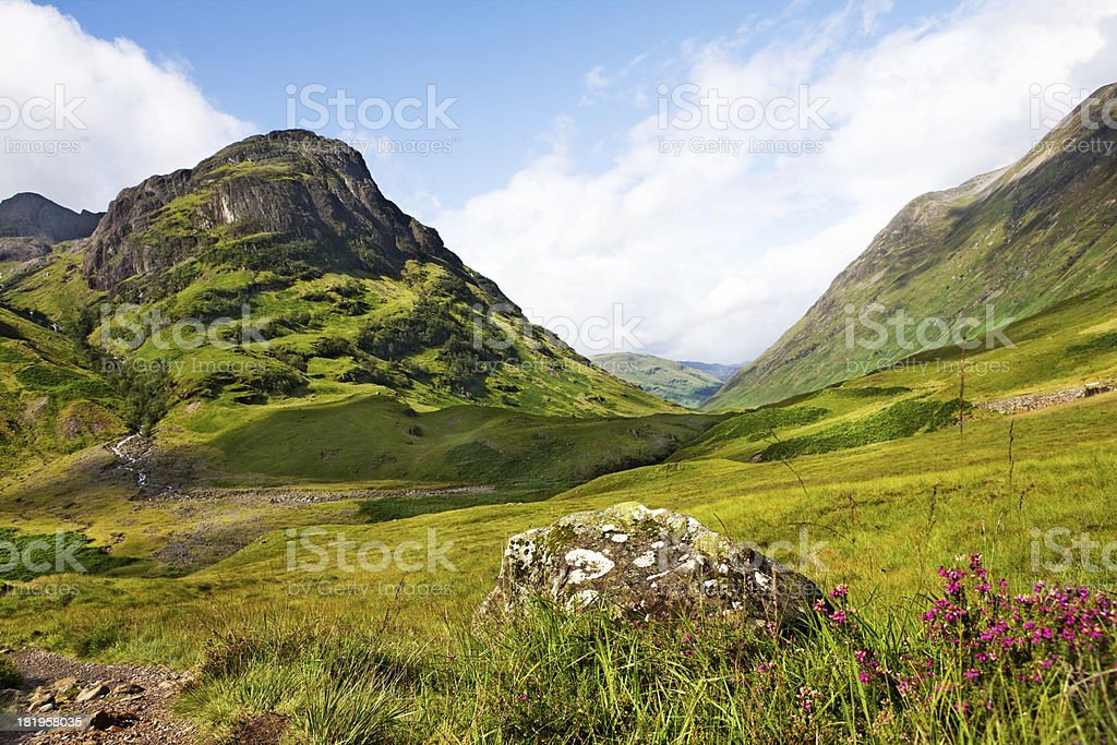 scenery shot of Glencoe Scotland stock photo