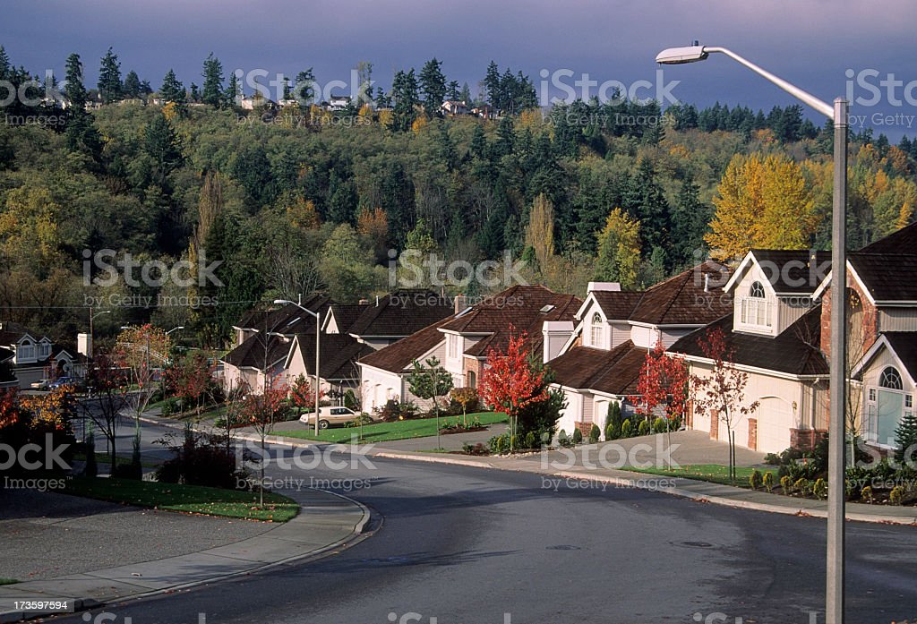 Scenery view of the beautiful suburbs royalty-free stock photo