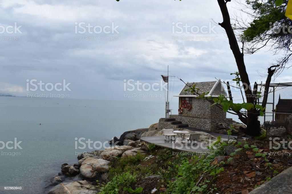 Landschaft Mit Einem Kleinen Häuschen Am Strand Am Affenberg ...