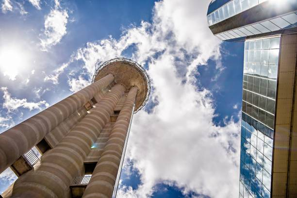 scenes around reunion tower dallas texas stock photo