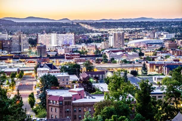 scenes around spokane washington downtown scenes around spokane washington downtown washington state stock pictures, royalty-free photos & images