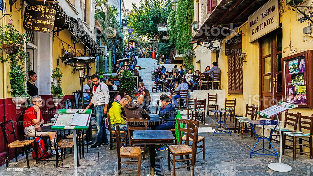 Scenes from Plaka stock photo