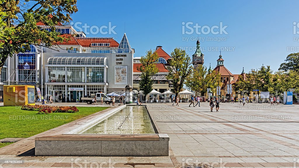 Scenes from Sopot stock photo