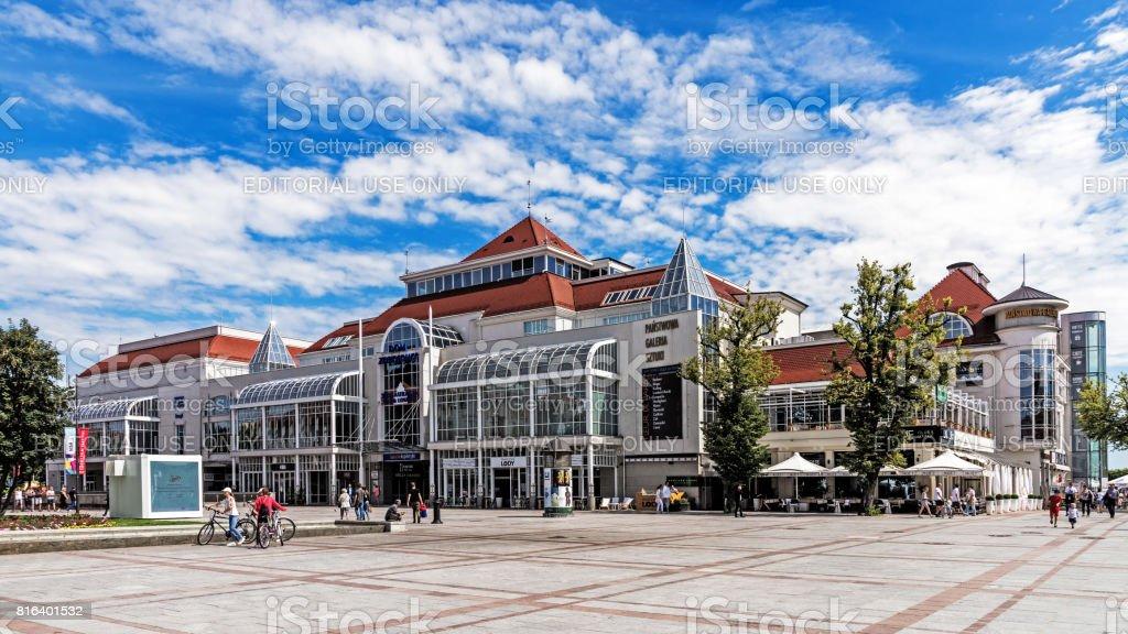 Scenes from the main promenade stock photo