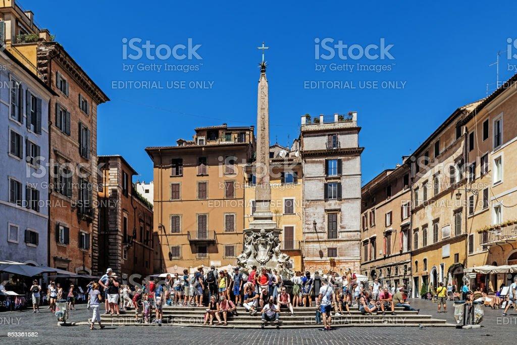 Scenes from the Piazza della Rotonda stock photo