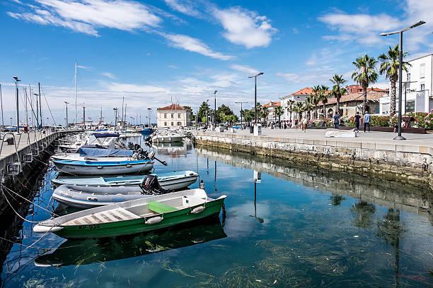 Scenes from the port of Koper, Slovenia stock photo