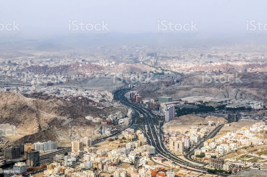 Sceni View Of Makkah City View From Mountains Saudi Arabia Stock Photo Download Image Now Istock