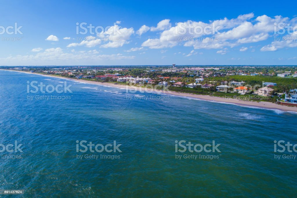 Scenic aerial image of Boynton Beach FL stock photo