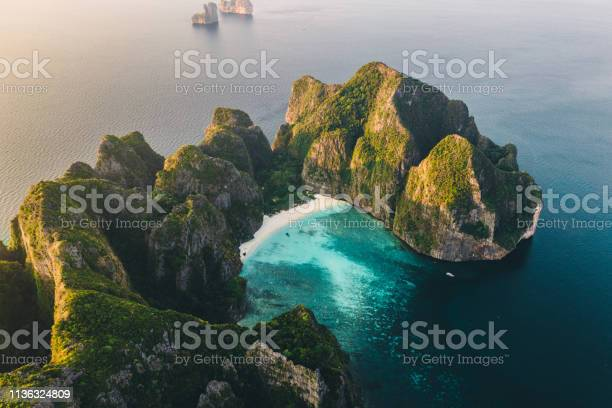 Photo of Scenic aerial view of Koh Phi Phi Island in Thailand