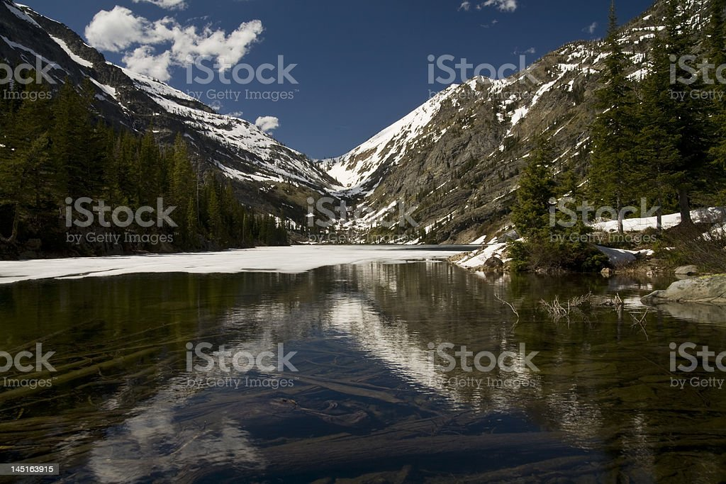 Scenic Alpine Lake of the Rocky Mountains stock photo