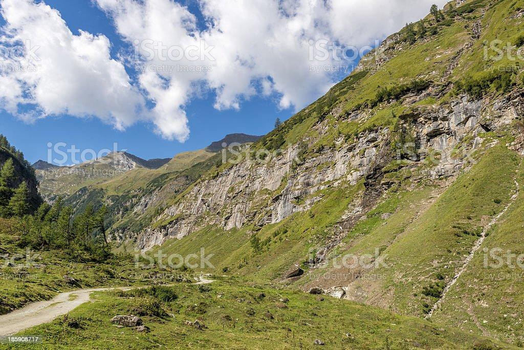 Scenic Alpine Valley stock photo