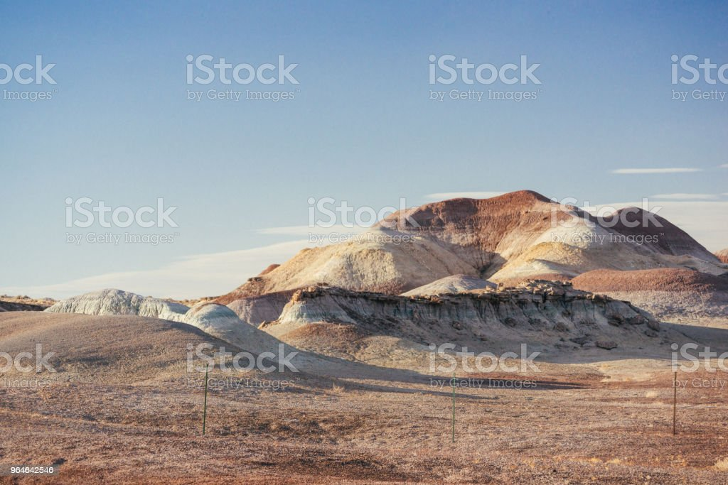 Scenic Arizona Desert Landscape Mountain and Valley View royalty-free stock photo