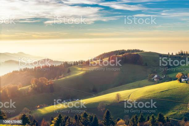 Photo of Scenic autumn mountain landscape of Black Forest, Germany.