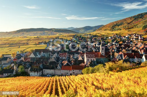 925850210istockphoto Scenic autumn mountain landscape with vineyards in France 639828070