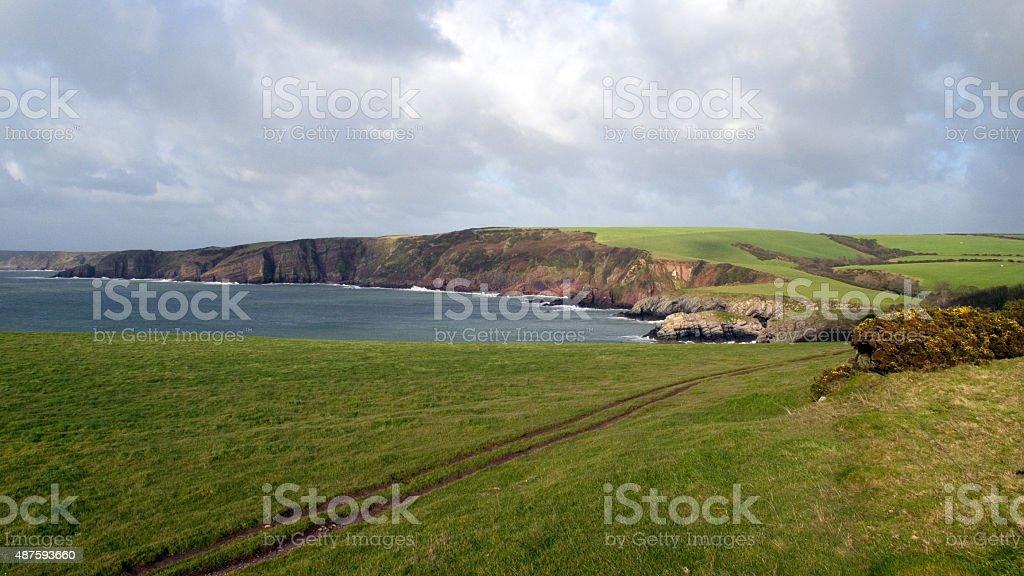Scenic Barafundle, Wales stock photo