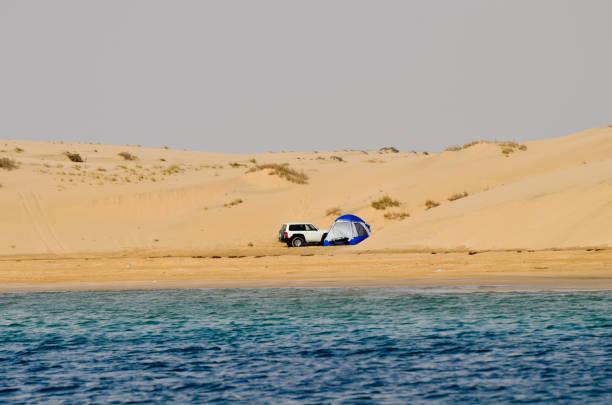 Landschaftliche Schönheit von Sanddünen Abstieg ins Meer – Foto