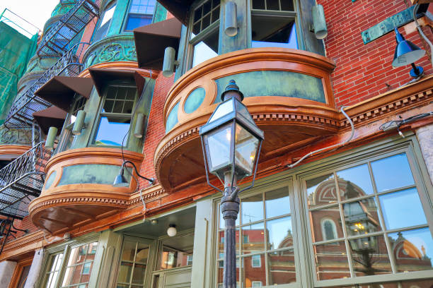 Scenic Boston North End stock photo