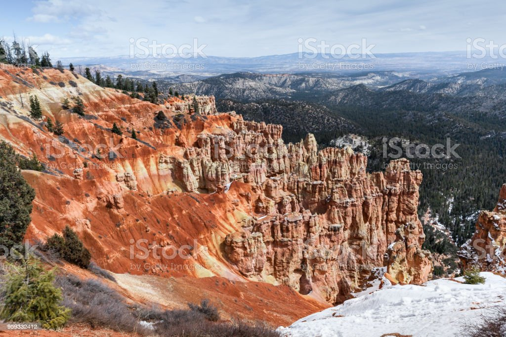 Scenic Bryce Canyon, Landscape In National Park stock photo