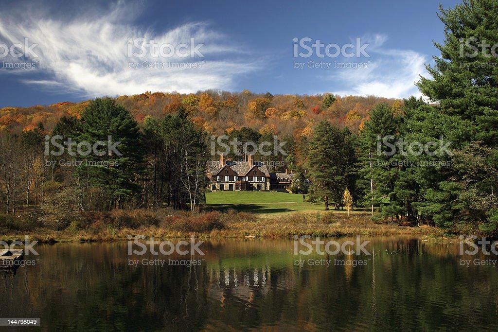 Scenic Cabin stock photo