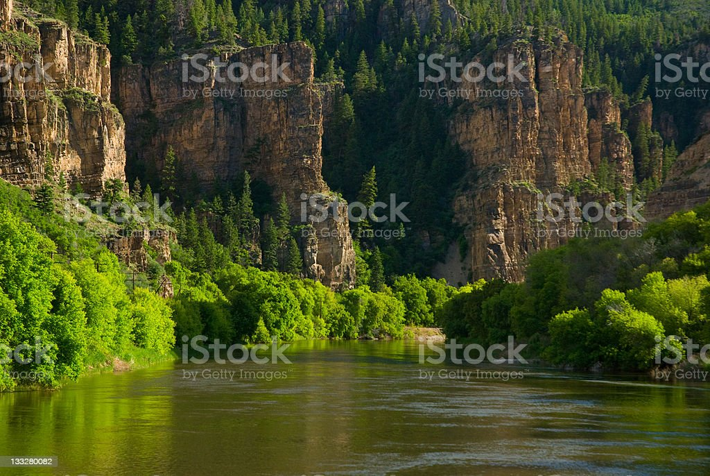 Scenic Canyon View on the Colorado River stock photo