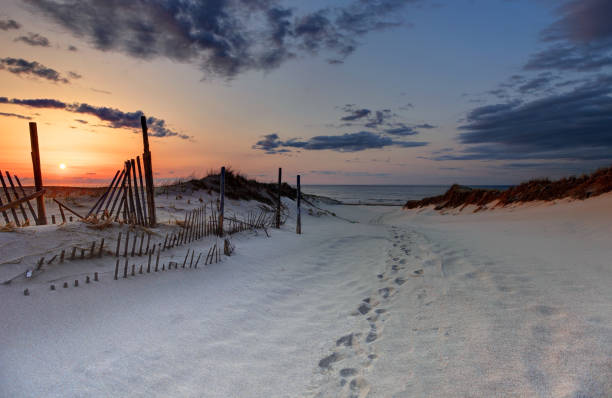 Scenic Cape Cod Beach Scenic Cape Cod beach in Provincetown. Cape Cod is famous, worldwide, as a coastal vacation destination with some of New England's premier beach destinations provincetown stock pictures, royalty-free photos & images