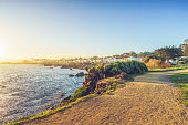 empty trail by coastline,Carmel-by-the-Sea,California,USA.