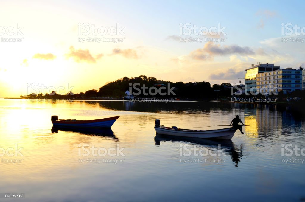 scenic castries water front st lucia royalty-free stock photo