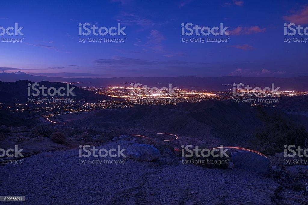 Scenic Coachella Valley stock photo