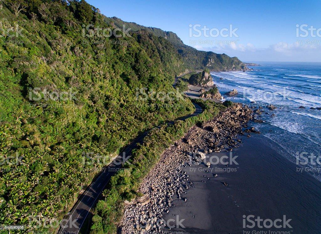 Scenic coastal highway stock photo