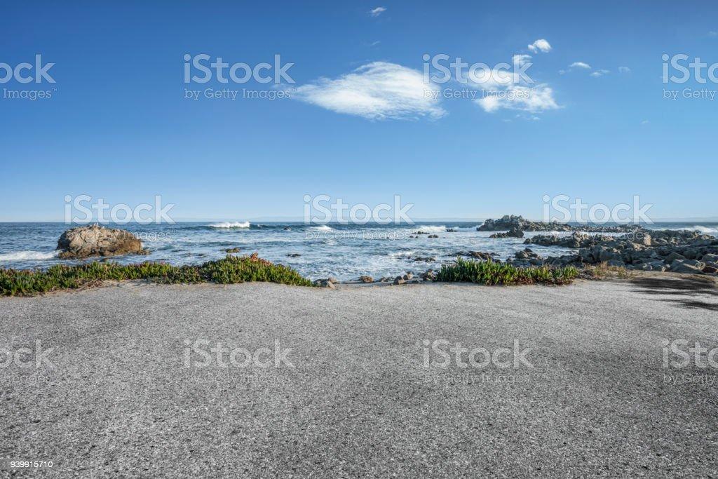 scenic coastline landscape,Carmel-by-the-Sea,California stock photo