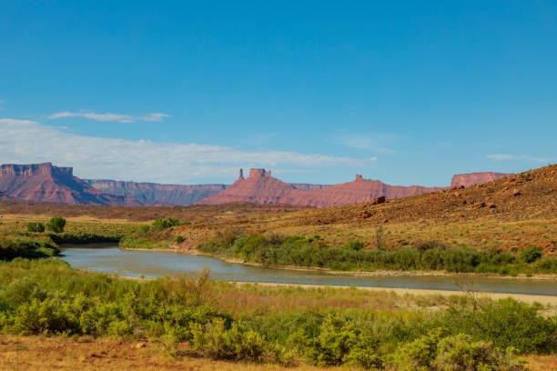Scenic Colorado River Moab Utah stock photo