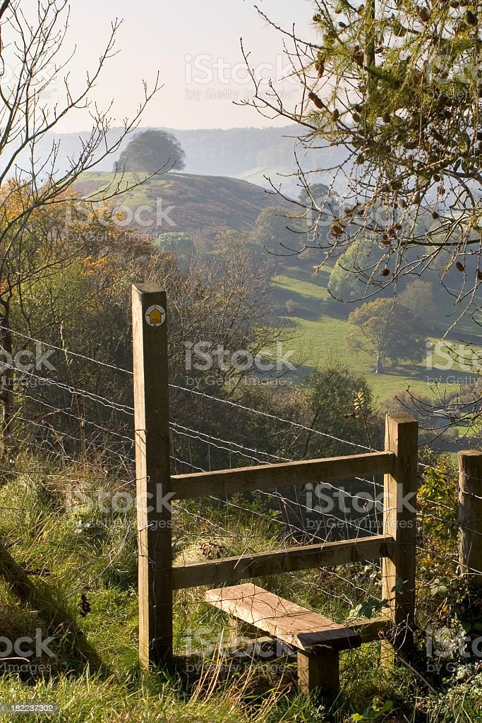 Scenic Cotswolds - Stile stock photo