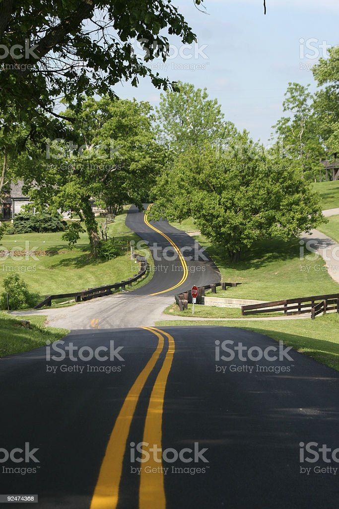 Scenic Country Road royalty-free stock photo