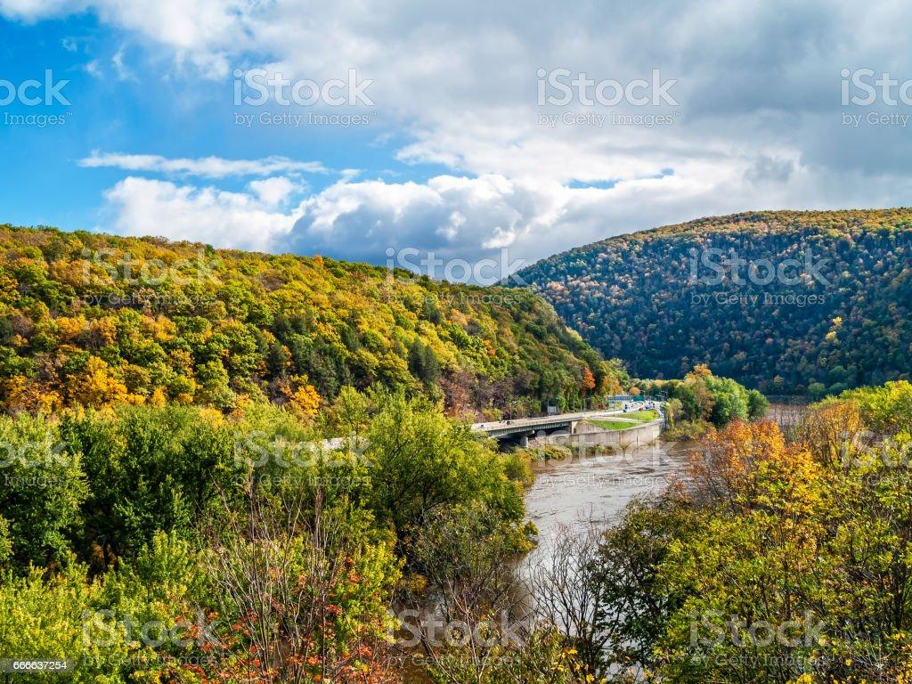 Scenic Delaware Water Gap stock photo