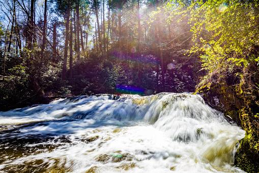 Scenic Dingmans Falls in Delaware Township tourist destination place