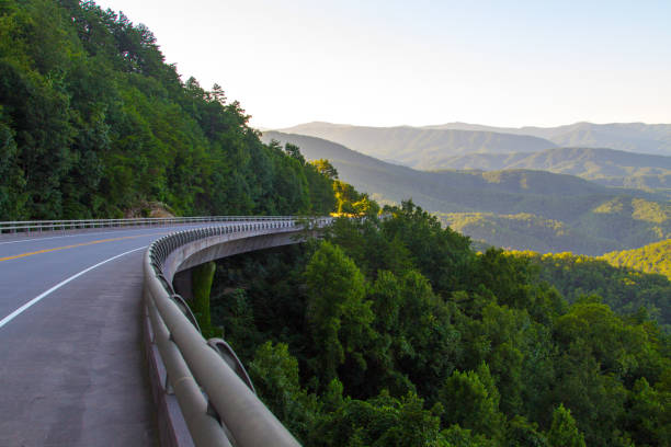 Scenic Drive Along The Foothills Parkway In The Great Smoky Mountains stock photo
