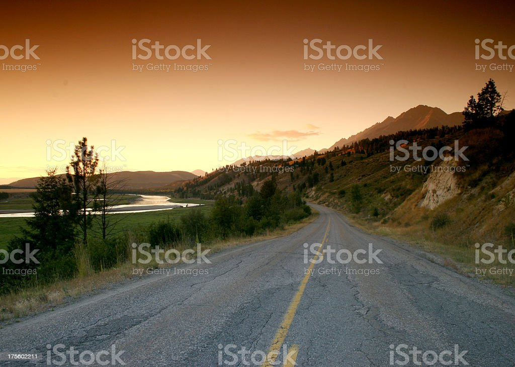 Scenic Drive on a Backroad stock photo