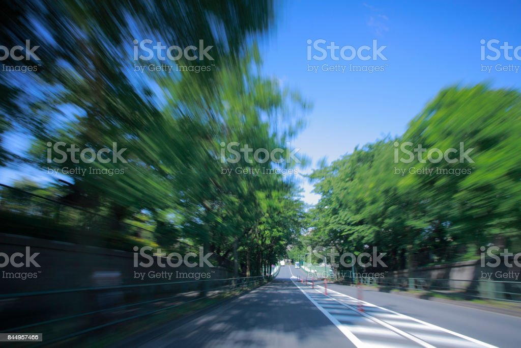 ドライブ風景 ストックフォト