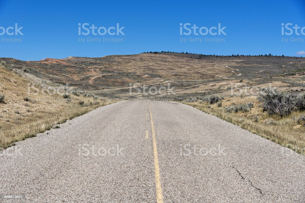 Scenic Drive through Fossil Butte National Monument stock photo