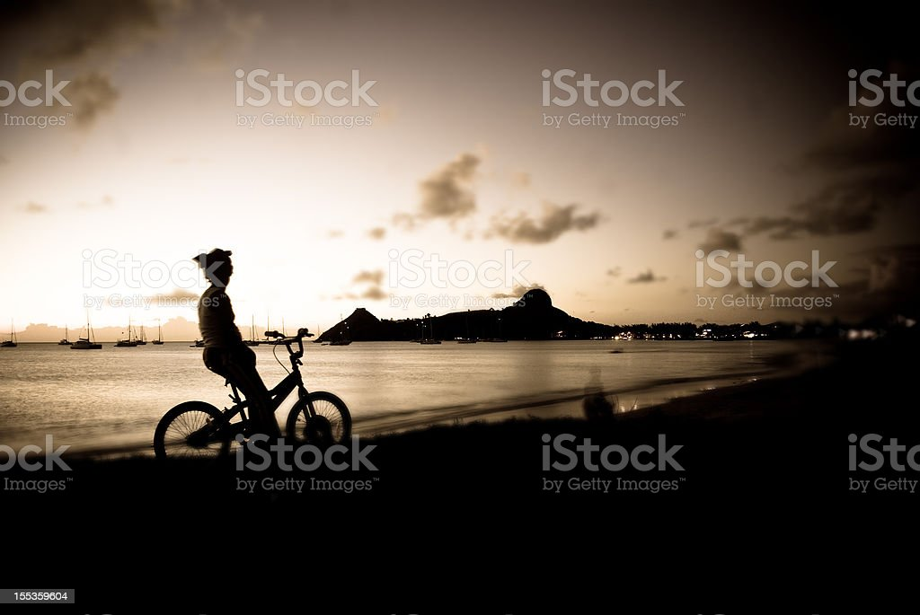 scenic evening silhouette royalty-free stock photo