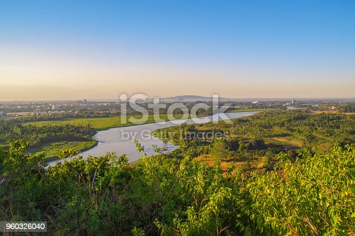 istock Scenic evening view of the Blue Nile river, Bahir Dar and Lake Tana in the background. Nature and travel. Ethiopia 960326040