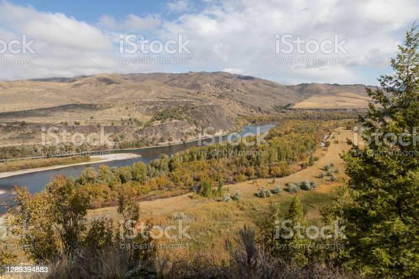 Photo of Scenic Fall Landscape Along the Snake River Idaho