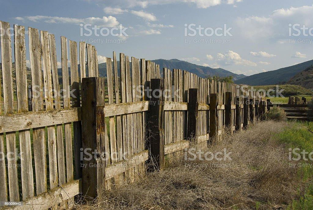 Malerische Zaun Lizenzfreies stock-foto