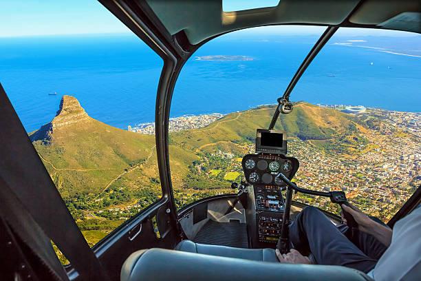 Scenic flight Cape Town stock photo