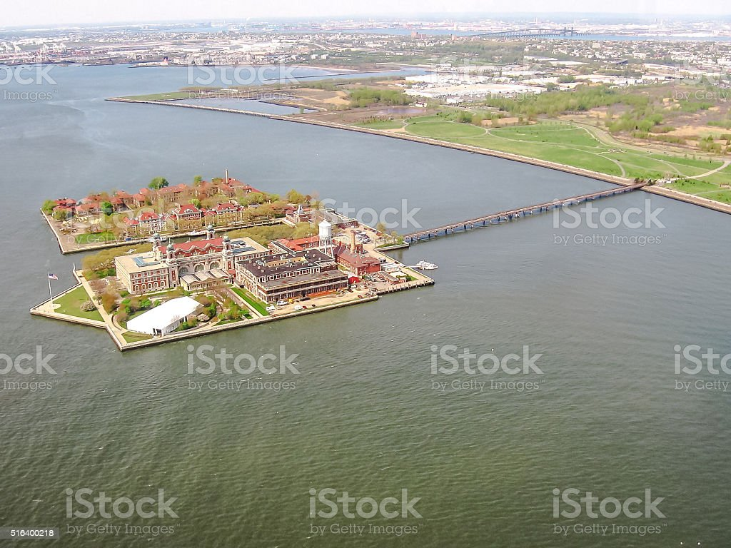 Scenic flight in New York city stock photo