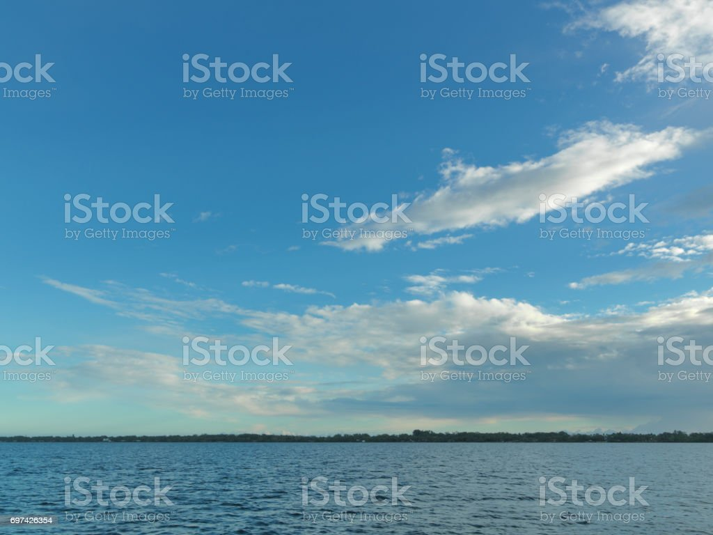 Scenic Florida Shoreline Of The Intracoastal Waterway Stock Photo