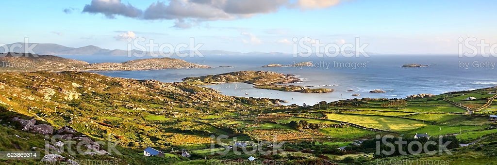 scenic from Ring of Kerry coastline, Ireland stock photo