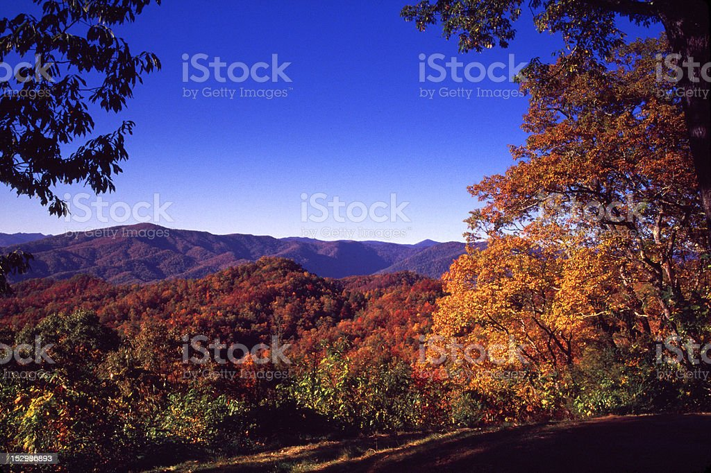 Scenic from the Blue ridge parkway royalty-free stock photo