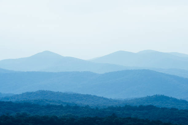 Scenic Georgia Blue Ridge Mountains Landscape Nature Background Scenic view of Blue Ridge Mountain landscape near Helen, Georgia in Sautee Nacoochee, Georgia in Southern USA. blue ridge mountains stock pictures, royalty-free photos & images