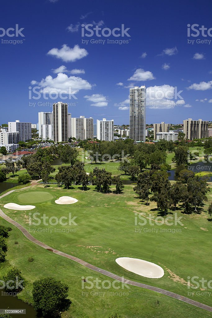 Scenic Golf Course Hawaii royalty-free stock photo